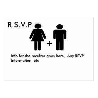 Tarjeta divertida de RSVP del diagrama de los pare Tarjeta Personal