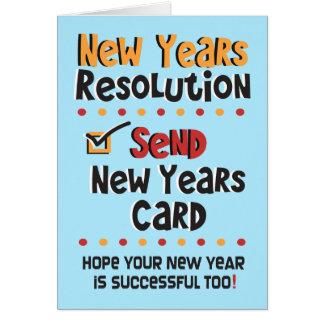 Tarjeta divertida del Año Nuevo de la resolución d