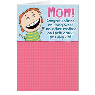 Tarjeta divertida del día de madre