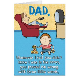 Tarjeta divertida del día de padre