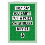 Tarjeta divertida del día de padre: Consejo