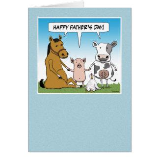 Tarjeta divertida del día de padre: De la manada