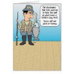 Tarjeta divertida del día de padre de la pesca