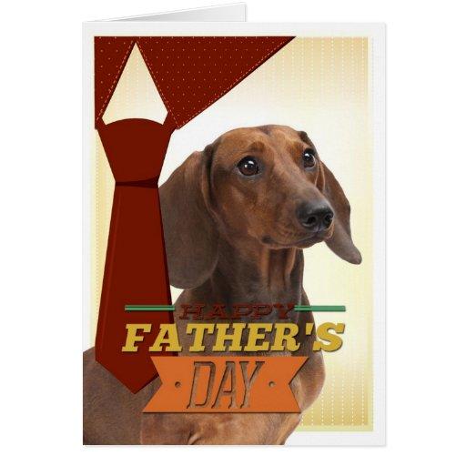 Tarjeta divertida del día de padre del Dachshund