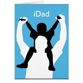 tarjeta divertida del día de padre del iDad