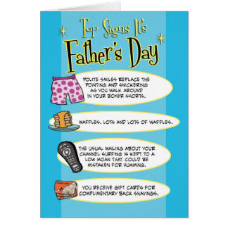 Tarjeta divertida del día de padre: Muestras