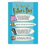 Tarjeta divertida del día de padre: Muestras super