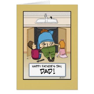 Tarjeta divertida del día de padre: Obra de arte