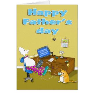 tarjeta divertida del día de padres