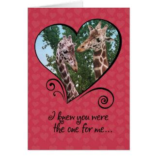 Tarjeta divertida del día de San Valentín de las j