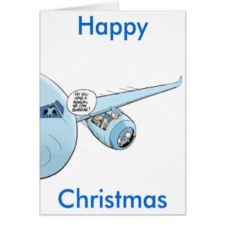 Tarjeta divertida del dibujo animado del navidad