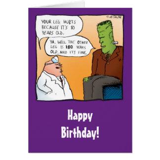 Tarjeta divertida del doctor cumpleaños de Franken