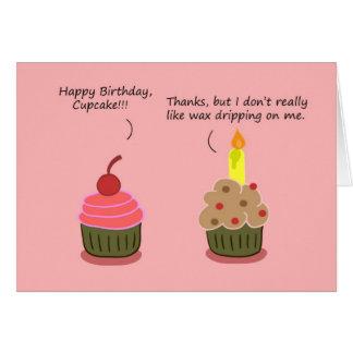 Tarjeta divertida del feliz cumpleaños: Afliccione
