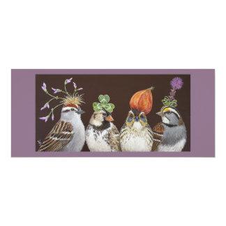 """tarjeta divertida del fiesta del pájaro invitación 4"""" x 9.25"""""""