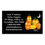Tarjeta divertida del perfil de Halloween de las c Tarjeta De Negocio