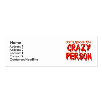Tarjeta divertida del perfil/de visita de la perso tarjetas de visita