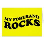 Tarjeta divertida del tenis: Mis rocas del cuarto