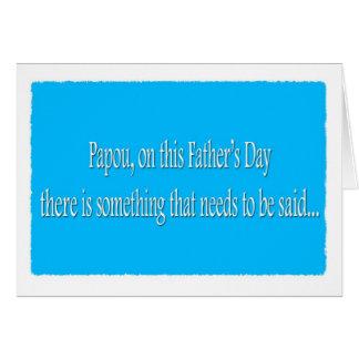 Tarjeta divertida feliz del día de padre de Papou