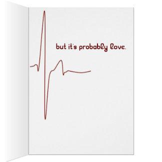 tarjeta divertida romántica de la tarjeta del día