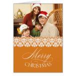 Tarjeta doblada oro de la foto de las Felices Navi