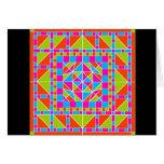 Tarjeta dramática del diseño geométrico 2