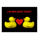 Tarjeta Ducky afortunada