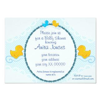 """tarjeta ducky de goma de la fiesta de bienvenida invitación 5"""" x 7"""""""