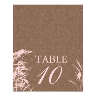 Tarjeta dulce 2 de la tabla de la novia del otoño tarjeton
