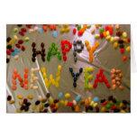 Tarjeta dulce de la Feliz Año Nuevo