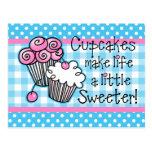 Tarjeta dulce de la receta de las magdalenas tarjetas postales