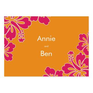 Tarjeta dulce de las direcciones del boda del tarjetas de visita grandes