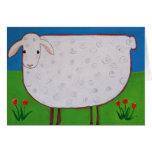 Tarjeta dulce de las ovejas - amistad