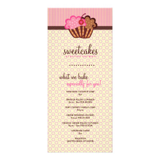 Tarjeta dulce del estante de la magdalena de 311 t tarjetas publicitarias
