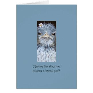 tarjeta dulce del estímulo del pájaro