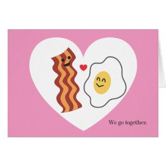 Tarjeta dulce y divertida del el día de San Valent