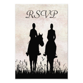 """Tarjeta ecuestre de RSVP de la equitación que se Invitación 3.5"""" X 5"""""""
