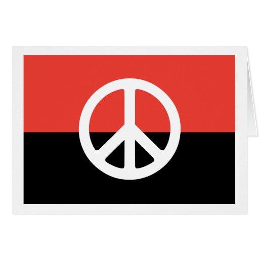 Tarjeta egipcia de la bandera de la paz