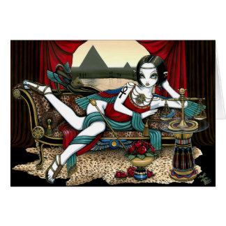 """Tarjeta egipcia del ángel de Maat de la diosa de """""""