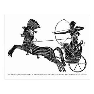 ¡Tarjeta egipcia del arte del vintage de rey Postal