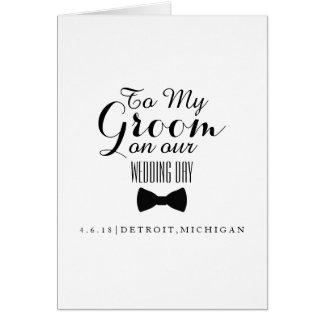 Tarjeta el | a usted día de boda