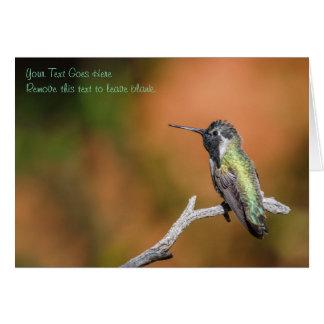 Tarjeta: El colibrí #5 de la costa Tarjeta De Felicitación