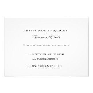 Tarjeta el de RSVP de la invitación básico