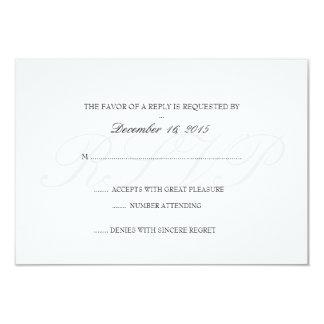 Tarjeta el | de RSVP de la invitación básico