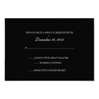 Tarjeta el | de RSVP de la invitación Básico-b
