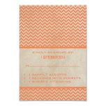 Tarjeta elegante anaranjada de la respuesta de invitación 8,9 x 12,7 cm