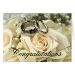 Tarjeta elegante de la enhorabuena del boda