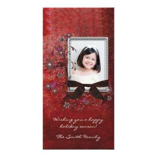 Tarjeta elegante de la foto del día de fiesta tarjetas fotograficas personalizadas