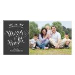 Tarjeta elegante de la foto del navidad de la escr tarjetas personales con fotos