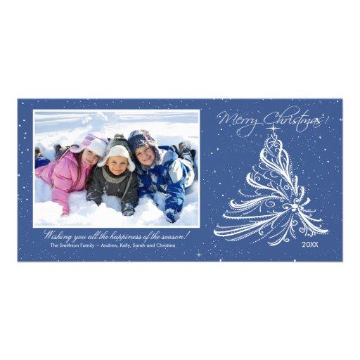 Tarjeta elegante de la foto del navidad de la fami tarjetas con fotos personalizadas