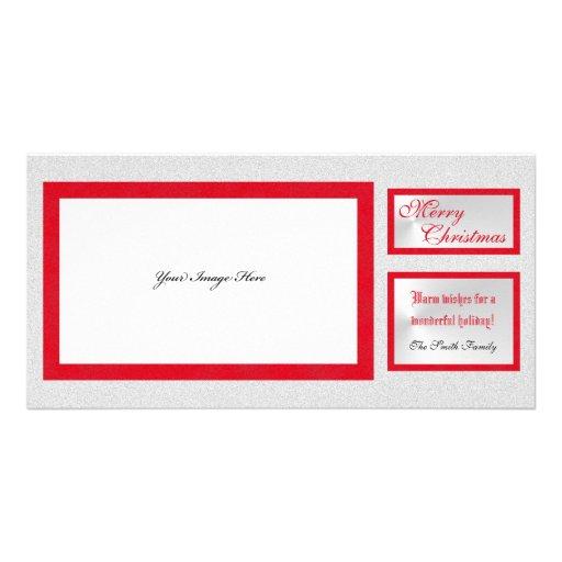 Tarjeta elegante de la foto del navidad de la imag tarjeta fotográfica personalizada